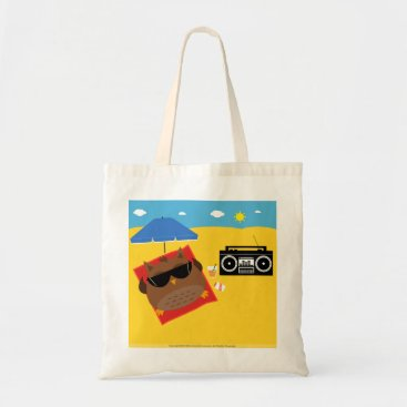Beach Themed Beach Owl Design - Totes Budget Bag