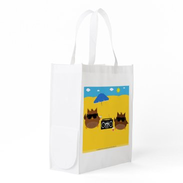 Beach Themed Beach Owls Design - Reusable Bag
