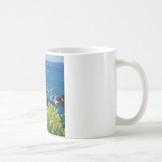 Beach Pacific Coastline Wildflowers Mendocino Coffee Mug