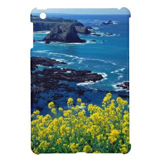 Beach Pacific Coastline Wildflowers Mendocino iPad Mini Cases