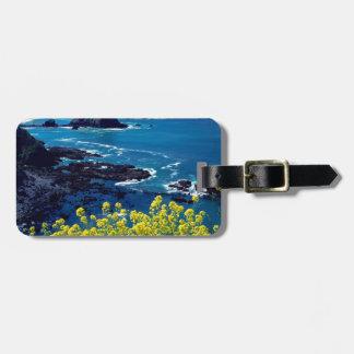 Beach Pacific Coastline Wildflowers Mendocino Travel Bag Tag