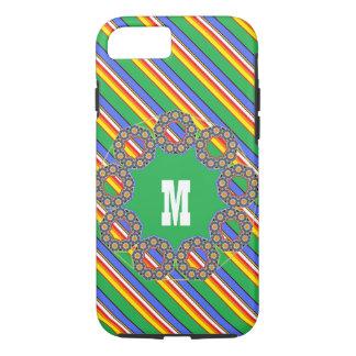Beach pail colors monogrammed iPhone 8/7 case