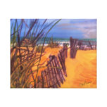 Beach Painting on Wrap Around Canvas Ready to Hang Gallery Wrap Canvas