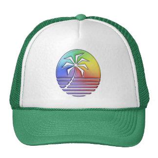 Beach Palm #2 Mesh Hats