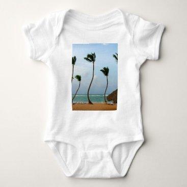 Beach Themed Beach Palm Baby Bodysuit