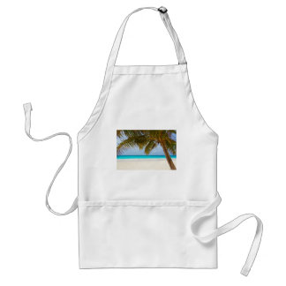 beach palm branches tree tropical island sand sea adult apron