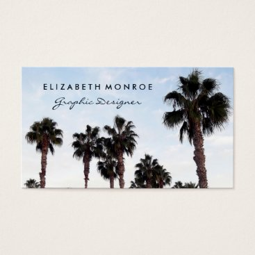 Beach Themed Beach Palm Tree Business Card