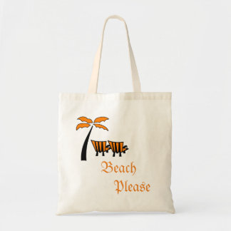 Beach Palm Tree Chair Tote Bag