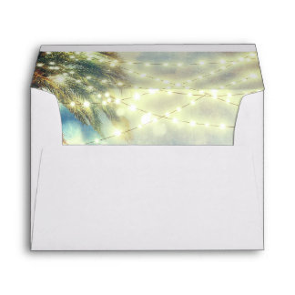 beach palm tree lights envelopes