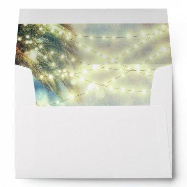 Beach Themed beach palm tree lights envelopes
