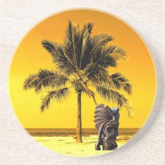 Beach Palm Tree Luau Beverage Coasters