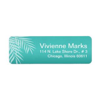 Beach Palm Tree Silhouette | aqua Label