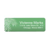 Beach Palm Tree Silhouette | jade Custom Return Address Label