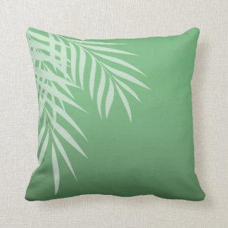 Beach Palm Tree Silhouette | jade Throw Pillow