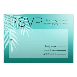 Beach Palm Tree Silhouette RSVP | aqua Card