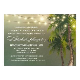 Beach Palm Tree Tropical Bridal Shower Invitations
