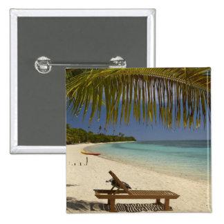 Beach, palm trees & lounger button