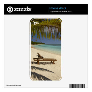 Beach, palm trees & lounger skin for iPhone 4S