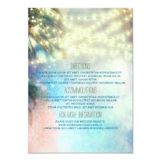 Beach Palms Wedding Details - Information Card