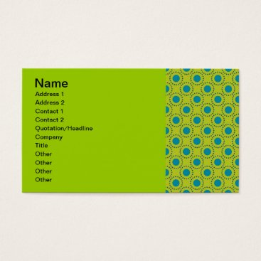 Beach Themed beach-paper-2 GREEN BLUE POLKA DOT POLKADOTS Business Card