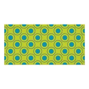 Beach Themed beach-paper-2 GREEN BLUE POLKA DOT POLKADOTS Card