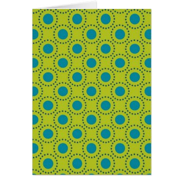 Beach Themed beach-paper-2 GREEN BLUE POLKA DOT POLKADOTS Card