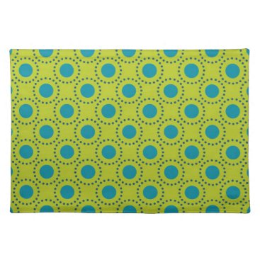 Beach Themed beach-paper-2 GREEN BLUE POLKA DOT POLKADOTS Cloth Placemat