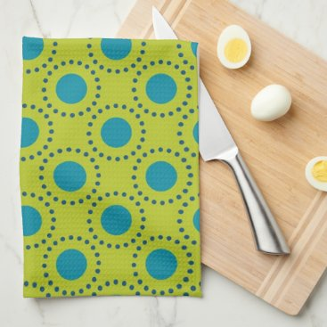Beach Themed beach-paper-2 GREEN BLUE POLKA DOT POLKADOTS Hand Towel