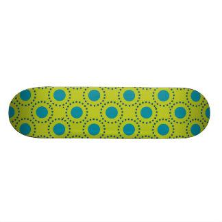 beach-paper-2 GREEN BLUE POLKA DOT POLKADOTS Skate Deck