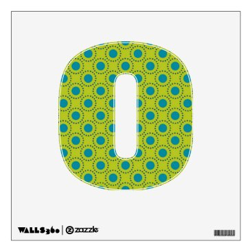 Beach Themed beach-paper-2 GREEN BLUE POLKA DOT POLKADOTS Wall Decal