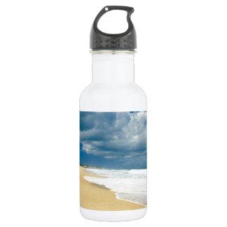 Beach Papohaku Molokai Hawaii Water Bottle
