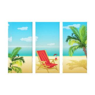 Beach paradise getaway Canvas Print