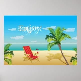 Beach paradise getaway  Print