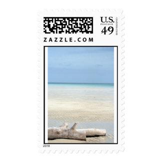 Beach Paradise Postage Stamp