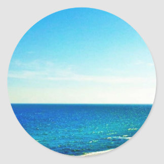 Beach paradise round sticker