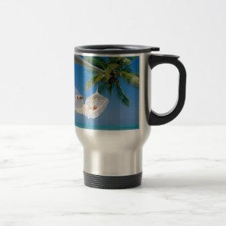 Beach Paradise Vacation Hammock Travel Mug