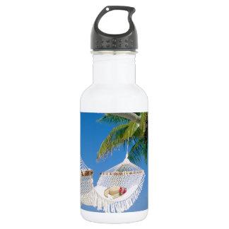 Beach Paradise Vacation Hammock Water Bottle