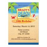 "Beach Party 5"" x 7"" Invitations"