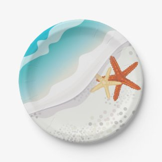 Beach Party 7 Inch Paper Plate