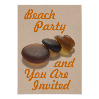 Beach Party - and You Are Invited 5x7 Paper Invitation Card