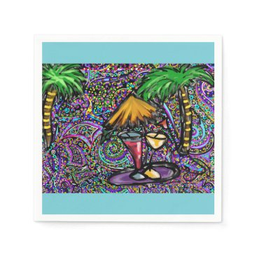 Beach Party Art Napkin
