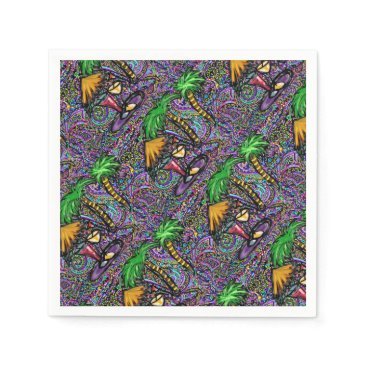 Beach Party Art Paper Napkin