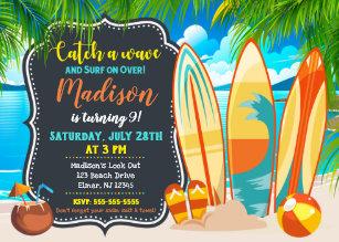 Beach birthday party invitations announcements zazzle beach party birthday invitation summer party invitation filmwisefo
