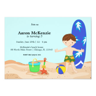 Beach party (Boy) Card