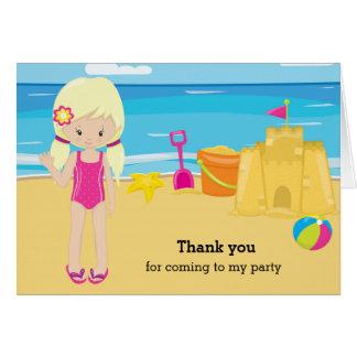 Beach party card