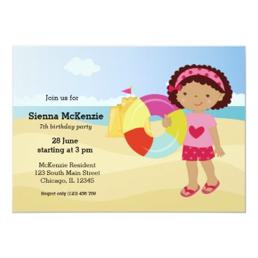 Beach Themed Beach party card