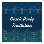 """Beach Party - Card Invitation 5.25"""" Square Invitation Card"""