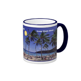 Beach Party!  Celebrate Summer is Here! Ringer Coffee Mug