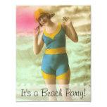 Beach Party Custom Announcement