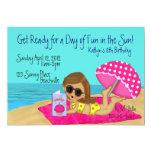 Beach Party Custom Invitations
